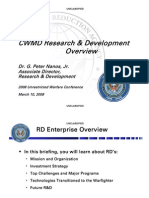 G. Peter Nanos, Jr- CWMD Research & Development Overview