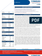 Equity Morning Note 07 Febuary 2012  -Mansukh Investment and Trading Solution