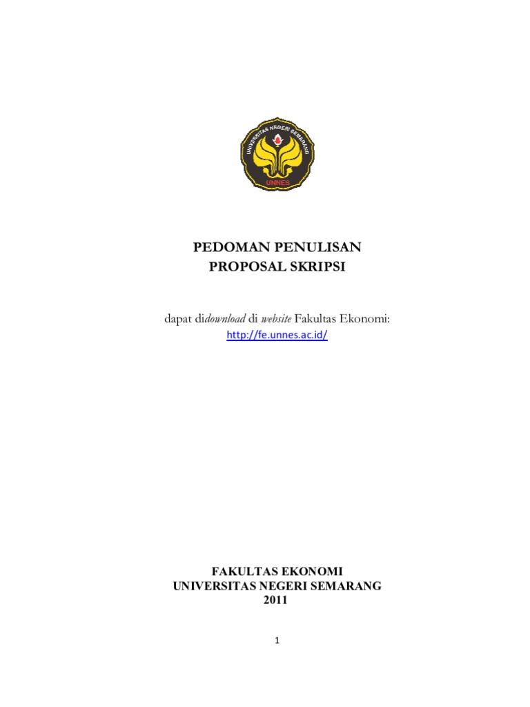 Format Proposal Skripsi 2011
