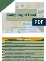 Presentation on Sampling of Food by Dr Dhir Singh