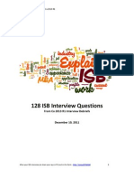 128 ISB Interview Questions