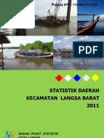 Statistik Daerah Kecamatan Langsa Barat 2011
