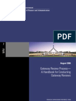 Gate Review Process a Handbook for Conducting Gate Reviews Australian Govt