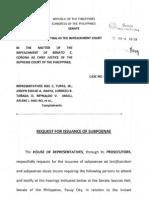 Request for Subpoenae Feb6 A858