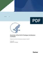 Summary Report on Nhin Prototype Architectures