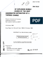 J. M. Thomsen and S. F. Ruhl- Mitigation of Explosion Bubble Pulsation Caused by the Deep Underwater Detonation of a Tapered Charge