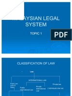 Topic 1-Malaysian Legal System 2011
