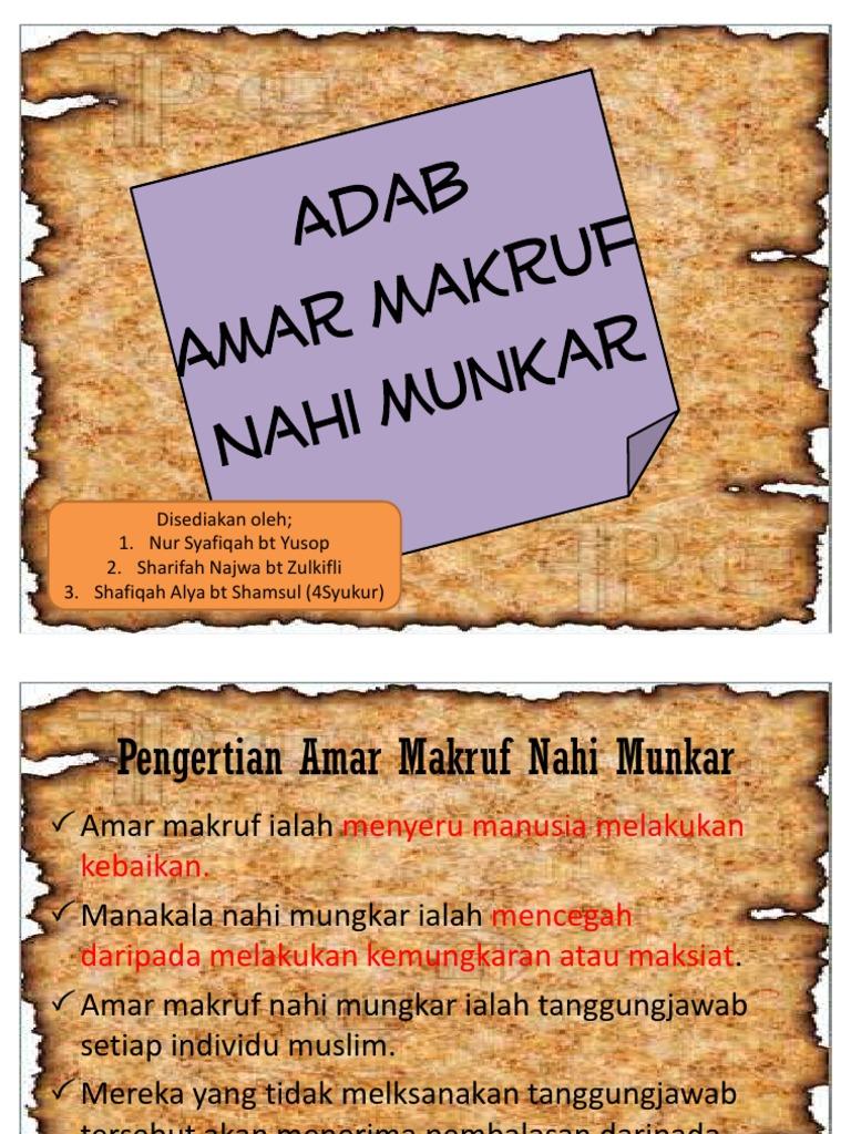 Adab Amar Makruf Nahi Munkar