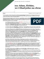 Co łączy słowa_ Adam, Elohim, Adonai, Jahwe i Ehad - Forum Watchtower