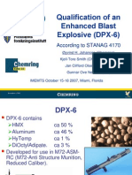 Øyvind H. Johansen et al- Qualification of an Enhanced Blast Explosive (DPX-6)