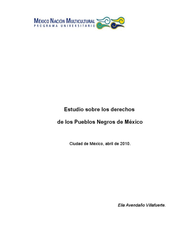 Los Derechos de Los Pueblos Negros. Elia Avendaño