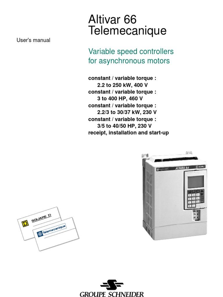 Altivar 66 Wiring Diagram Electrical Diagrams 61 Control Atv66 User Manual Power Supply Alternating Current
