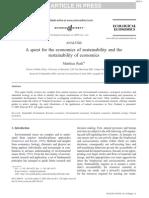 Economics and Sustainability