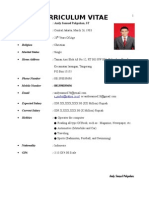 Newest Andy Samuel's CV