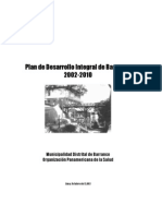 Plan Integral de Barranco 2002-2012