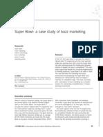 Super Bowl - A Case Study of Buzz Marketing