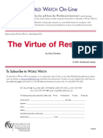 The Virtue of Restraint