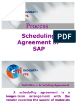 Scheduling Agreement