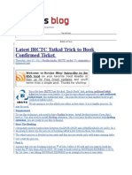 Latest IRCTC Tatkal Trick to Book Confirmed Ticket