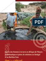 L'accès des femmes à la terre en Afrique de l'Ouest