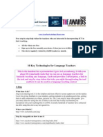 10 Great Tools for Language Teachers