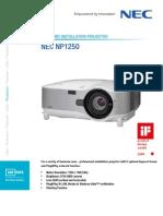 Nec Np1250 Brochure