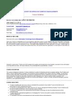 ITSM Course Syllabus