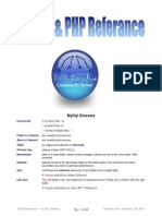MYSQL & PHP Referance - Jan Zumwalt