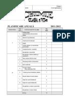 Planificare Clasa aVII-A 2011-2012