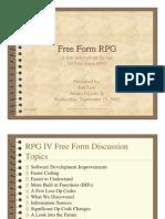 Free Form RPG Presentation