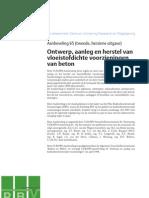 A an Beveling 65 - Ontwerp Aanleg en Herstel Van Vloeistofdichte Voorzieningen Van Beton