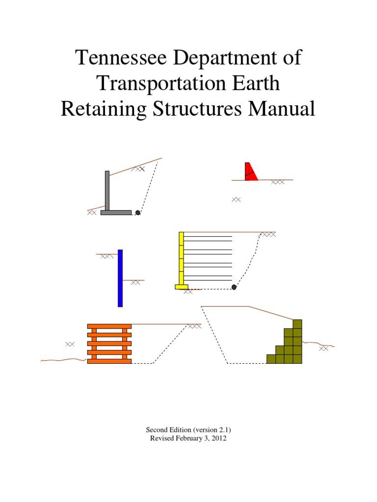 Retaining Wall Design Manual  Deep Foundation  Geotechnical