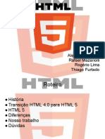 apresentação - HTML5