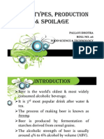 Beer- Types, Production &Spoilage