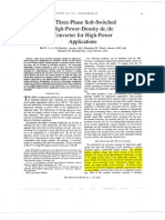 1) a Three-Phase Soft-Switched High-Power-Density DC-DC Converter