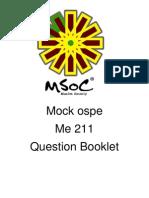 Mock Ospe (10 q Questions) Me 211