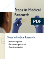 Steps in Medical Research