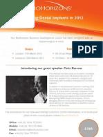 Biohorizons Business Development Course Flyer