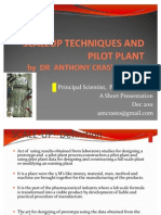 Anthony Crasto Scale Up Techniques & Pilot Plant