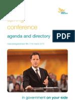 Liberal Democrat Spring 2012 Conference Agenda
