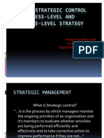 Linking Strategic Control to Business-Level and Corporate-Level Strategy Presentation