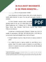 DESPRE PRIM-MINIȘTRII ROMÂNIEI