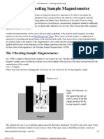 Vector Vibrating Sample Magnetometer