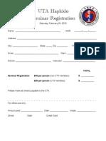 Hapkido Seminar Registration