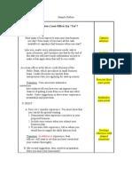 Sample Outline