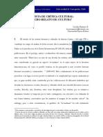 REVISTA DE CRITICA CULTURAL.MICRORELATO DE CULTURA. CAROLINA RAMÍREZ