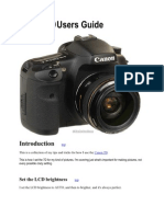 Canon 7D Users Guide
