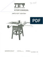 JWTS-10JF Table Saw Manual