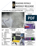 royals weekly press release for 2-06-2012
