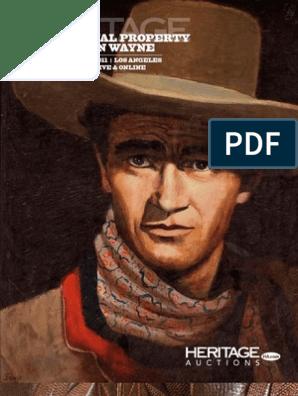 59d0b4803 The Personal Property of John Wayne Signature Auction - Heritage ...